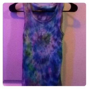 Tie dye girls tank top
